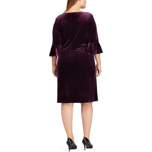 ef835552 Chaps Dresses | Plus Size Ruched Velvet Sheath Dress | Poshmark